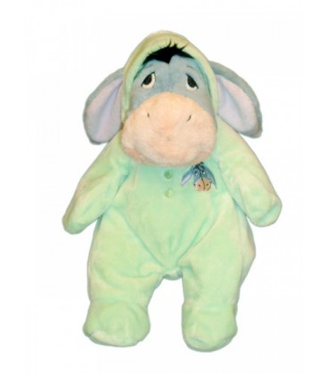 Doudou peluche Bourriquet Pyjama Vert 32 cm Disney