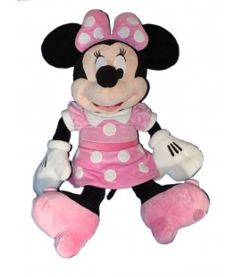 Superbe ! XXL - Peluche Géante MINNIE 85 cm - Robe rose - Exclusive Disney Store