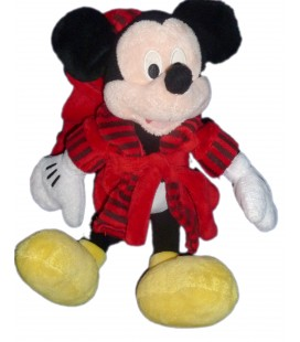 Doudou peluche MICKEY Club House - Peignoir Robe de chambre H 30 cm Disney Nicotoy 587/7303
