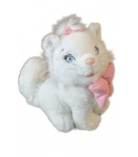 Peluche doudou Chat Chaton Marie Les Aristochats Noeud rose 24 cm Disney Disneyland Paris
