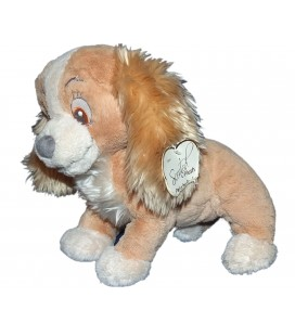 RARE ET COLLECTOR - Peluche Lady LA BELLE ET LE CLOCHARD Original Disney Store London H 26 Parfumée vanille Scented Plush