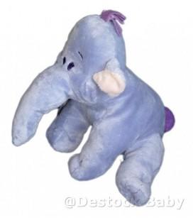 Doudou peluche LUMPY Efelant Elephant mauve Disney Nicotoy BDR Houpette 25 CM