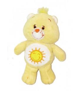 Doudou Peluche Bisounours Grosjojo jaune soleil Coeur Care Bears - 22 cm JEMINI