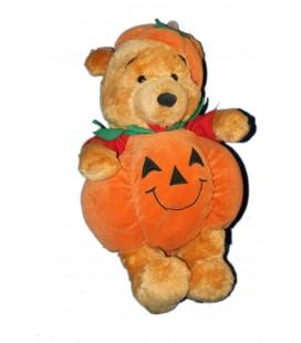 Doudou WINNIE L'OURSON The Pooh Pumpkin Citrouille Halloween H 32 cm Disney Store Disneyland