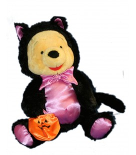 Peluche WINNIE L'OURSON Déguisé en Chat - Citrouille Halloween H 25 cm Disney Disneyland Resort