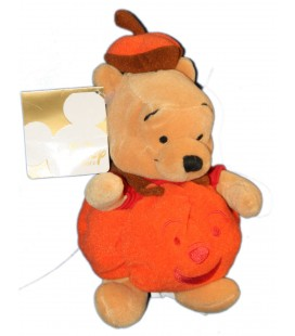 COLLECTOR - Peluche WINNIE L'OURSON Déguisé en Citrouille Halloween H 22 cm Pumkin Pooh Plush Disney Store London