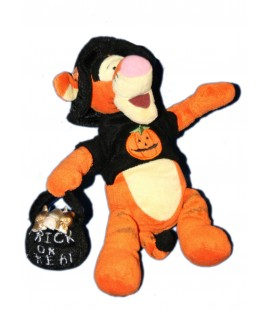 Collector - Peluche Doudou Tigrou Halloween Citrouille H 24 cm Disney Disneyland Resort