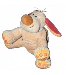 Doudou Peluche chien Bo beige orange NATTOU 25 cm
