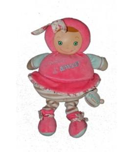 DOUDOU ET COMPaGNIE - Les Bouilles de Doudou - Poupée d'amour Rose