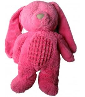 Doudou peluche CHIEN LAPIN rose fushia TEX Baby Carrefour CMI Nicotoy 35 cm