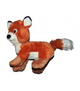 Doudou peluche Renard ROX ET ROUKY Authentique Disney Disneyland Paris 25 cm