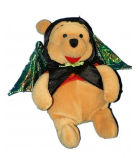 Collector - Peluche WINNIE L'OURSON Déguisé en Chauve Souris Batman H 20 cm Disney Disneyland Resort
