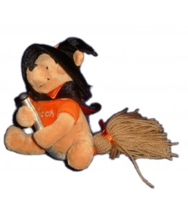 COLLECTOR - Doudou Peluche WINNIE L'OURSON Halloween Sorcier Balais H 20 cm Disney Store London