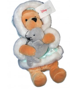 COLLECTOR - Peluche WINNIE L'OURSON Esquimau Phoque H 22 cm Explorateur Explorer Pooh Plush Disney Store London