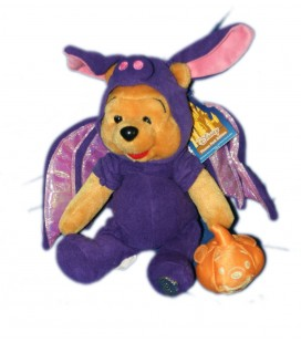 COLLECTOR 2002 Doudou Peluche WINNIE L'OURSON Halloween Chauve Souris H 22 cm Disney Disneyland Resort