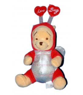 COLLECTOR - Peluche Doudou WINNIE L'OURSON H 23 cm Pooh Love Bug Disney Store