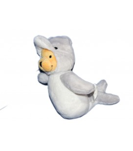 Peluche Doudou WINNIE L'OURSON H 20 cm Déguisé en Dauphin Disney Nicotoy