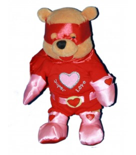 COLLECTOR - Peluche Doudou WINNIE L'OURSON H 23 cm Super Love Pooh Disney Store