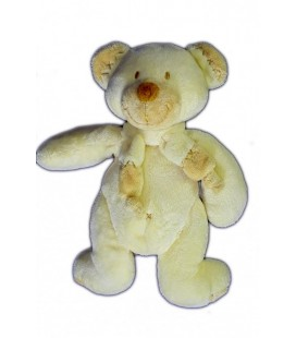 Doudou OURS beige Croix Nombril NICOTOY Simba Dickie 21 cm