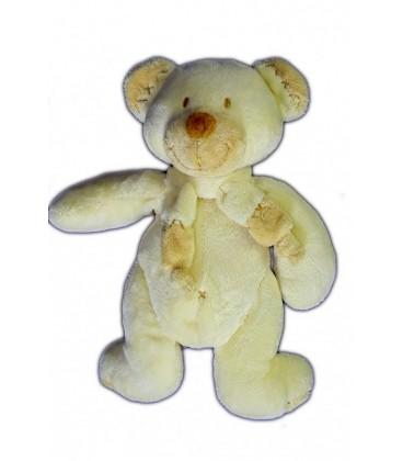 Doudou OURS beige Bastien Croix Nombril Baby Club C&A 22 cm