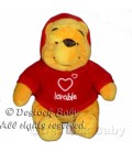 Peluche doudou Winnie l'Ourson Lovable Disneyland Resort 18 cm