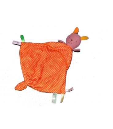 Doudou plat orange pois Bobbie and Friends Fun Horizon