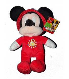 Doudou Peluche Mickey Mouse Pyjama rouge 28 cm Disney Nicotoy Club House - 587/8618