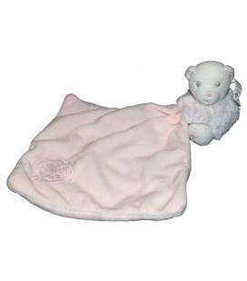 KALOO Doudou Ours perle rose Calin Mouchoir