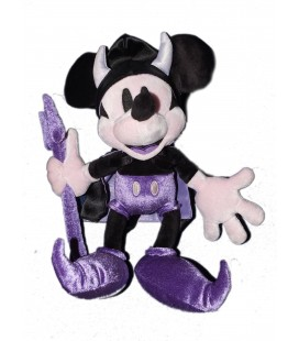 COLLECTOR - Peluche MICKEY Diable Démon violet mauve Disney Disneyland 30 cm