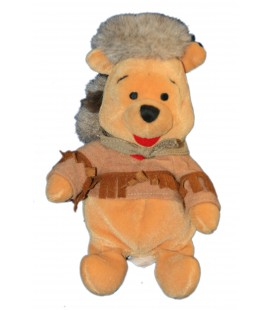 Frontier Pooh COLLECTOR Peluche Doudou Winnie l'Ourson Trappeur 22 cm Disney Disneyland Paris