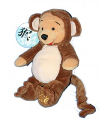 COLLECTOR Doudou Peluche Winnie L'Ourson Singe Monkey Pooh Bean Bag Disney Store 20 cm