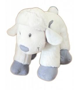 Doudou peluche MOUTON agneau Blanc gris - NICOTOY - 24 cm