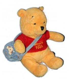 Peluche Doudou Winnie l'Ourson sac besace 21 cm Disney Nicotoy