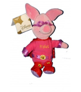 COLLECTOR Peluche Doudou Porcinet Superman Sidekick Piglet 22 cm Disney Store
