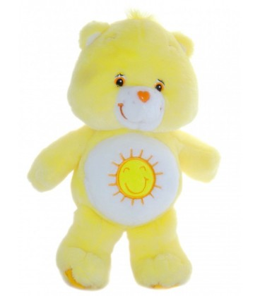 Doudou Peluche Bisounours Grosjojo jaune soleil Coeur - 32 cm - CARE BEARS - Funshine Bear