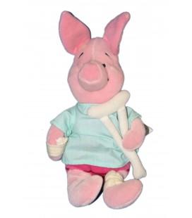 COLLECTOR Peluche Doudou Porcinet Blessé Patient Piglet 24 cm Disney Store