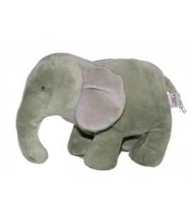 Doudou peluche ELEPHANT gris JACADI 26cm x 20 cm