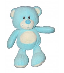 Doudou peluche OURS bleu turquoise Zoodoo 30 cm