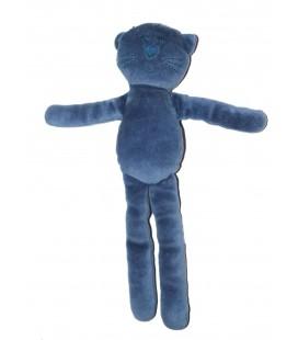 Doudou Chat bleu Bout'chou Monoprix 30 cm