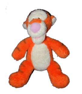 Doudou Peluche TIGROU orange Longs poils fourrure Disney 32 cm