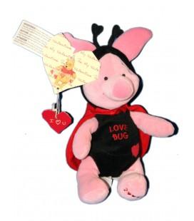 COLLECTOR Peluche Doudou Porcinet Coccinelle Love Bug Piglet 22 cm Disney Store