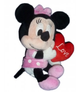 Peluche doudou MINNIE Coeur Love Nicotoy 587/2919 20 cm