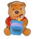 Peluche WINNIE L'OURSON Hunny Pot de Miel Abeille Walt Disney 18 cm