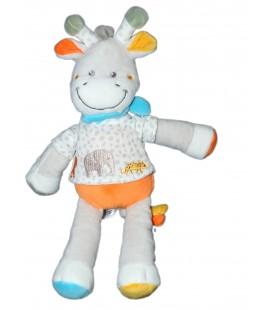 Doudou Girafe Vache gris blanche blanc Elephant 32 cm TEX Baby CMI Carrefour