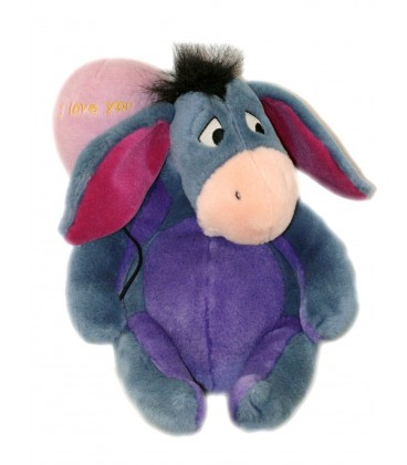 Doudou peluche BOURRIQUET Ballon I love you 32 cm Disney Nicotoy 587/2704