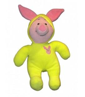 Doudou peluche PORCINET 38 cm Pyjama jaune Disney Nicotoy