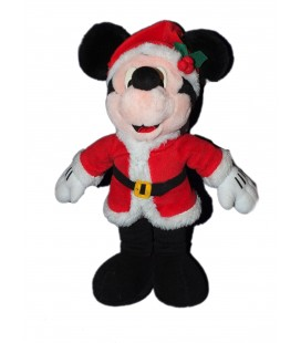 Doudou peluche MICKEY Déguisé en Père Noël 38 cm Disneyland Disney Resort