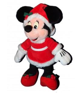 Doudou peluche MINNIE Déguisée en Mère Père Noël 36 cm Disneyland Paris Disney
