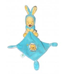 Doudou Winnie Deguise en lapin - Mouchoir Bleu - Disney Nicotoy 587/0527