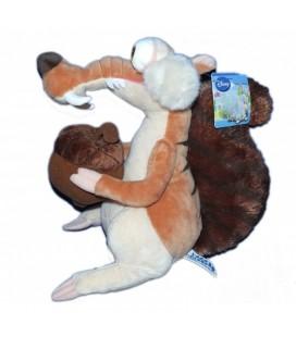Peluche - Age De Glace 4- Scrat - H 25 cm - Disney Nicotoy Gipsy - 587/3950